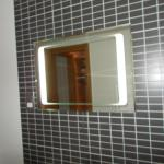 shavers mirror with light
