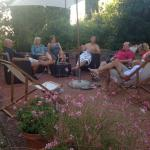 Our Group Enjoying the Outdoor Patio