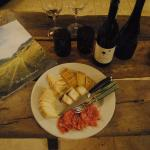 stayed in and had cheese and wine from the B&B