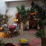 The courtyard in the centre of the Riad