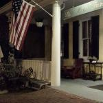 The front porch at night