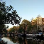View of the canal just stepping outside the Singel