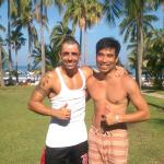Post-cardio smile with Caio, the fitness instructor