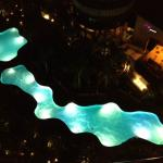 night view of pools from balcony