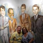 The Rat Pack on the wall at Frankies!!!