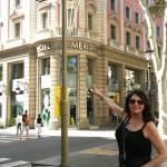 Pointing to my room at Le Meridien Barcelona