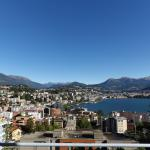 View of Lugano from our terrace