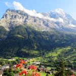 View of Eiger from balcony (room 425), Hotel Belvedere
