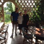 The owners of the Agriturismo