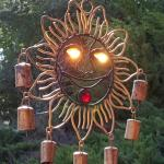 Sun God - sun reflecting through eyes. Sign of good fortune for all who gaze on picture!