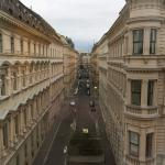 Guest room at Marriott Hotel Vienna and view from window