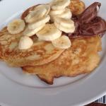 Pancakes with chocolate and banana - delicious