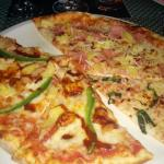 BBQ pizza, bacon pineapple and Margherita pizzas