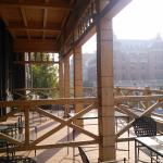 Another view of the patio. This is taken from the historic wing bedroom POV.