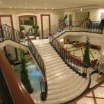 Lobby staircase to 2nd floor restaurants