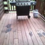Dirty, neglected grill area