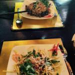 Delicious lunch with fresh vietnamese salads!!! Go there