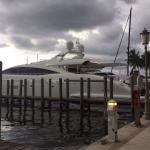 Yachts park in front of the yacht club