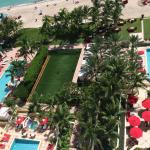 Overlooking the adult pool and spa pool