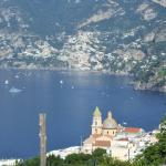 view from the apartment towards Positano