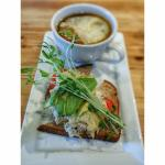 Crab Melt Sandwich with French Onion Soup