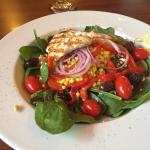 Mediterranean salad with couscous and chicken