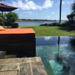 pool and view from our ocean villa