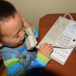 Playing with the telephone