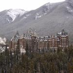 Banff Springs Hotel viewed from Bow River