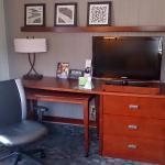 Desk, Television, and Wardrobe