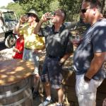 Tasting wine during the jeep tour