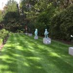 Beautiful statues through out the garden, romantic at night