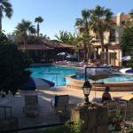 The tranquil pool area