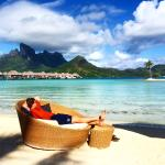 Mornings on the beach at Four Seasons Bora Bora