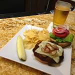 Mushroom Swiss Burger from our 24/7 Gallery Menu