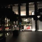 Night voew of the entrance