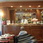 The hoterl bar.