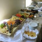 Cheese tray, afternoon snack, catering at Glenerin Inn