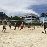 Played beach volleyball with the Staff every day!
