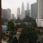 Lovely view of the Twin Towers from the rooms. The hotel is also quite isolated