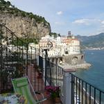 View of Atrani from the balcony of the Blue Room