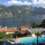Lake Como view from our Belvedere room