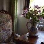 lovely jug of flowers in our room