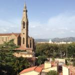 The view from our balcony of the Basilica di Santa Croce