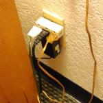 overloaded electric outlet