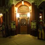 The seperate entrance to the Diamond Bell, old Wild West bar!