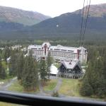 View of hotel from tram