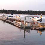 Seaplanes by the hotel