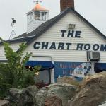 The Chart Room from Hull's Cove beach