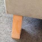 Chair leg in room